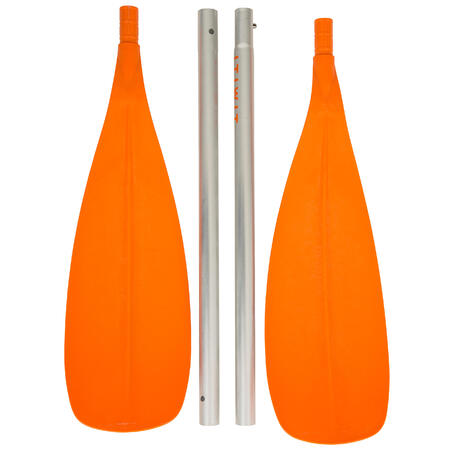 100 Four-Piece Split Kayak Paddle Orange