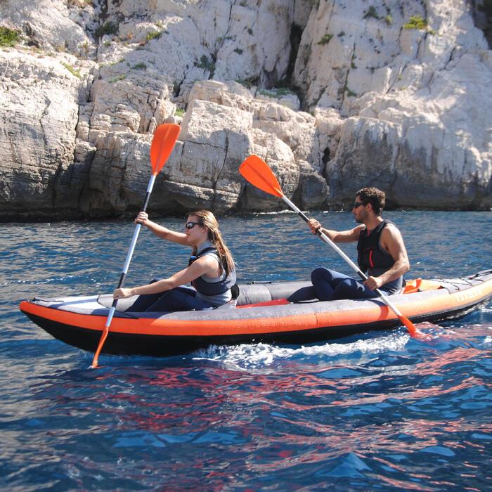 Pala De Kayak Tribord 100 Desmontable 2 Partes Naranja