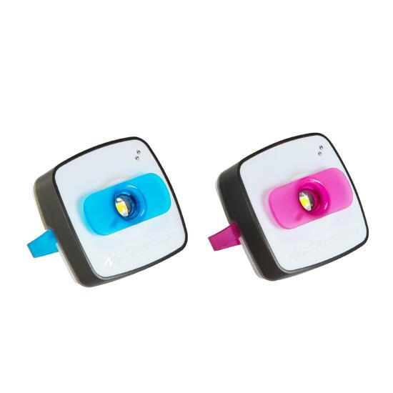Verlichtingsset voor kamperen Clic 60 lumen blauw/roze - 115138