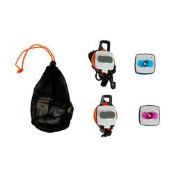 Verlichtingsset voor kamperen Clic 60 lumen blauw/roze - 115141