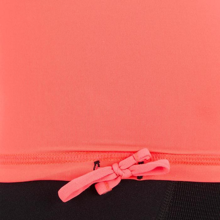 tee shirt anti uv surf top 500 manches courtes femme Noir imprimé - 1151536