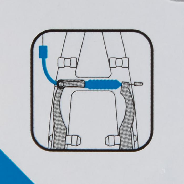 Kabelbocht + rubber voor V-brakes