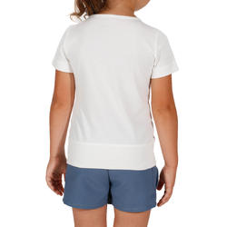 Hike 500 Kid Children's Hiking T-shirt – Owl White