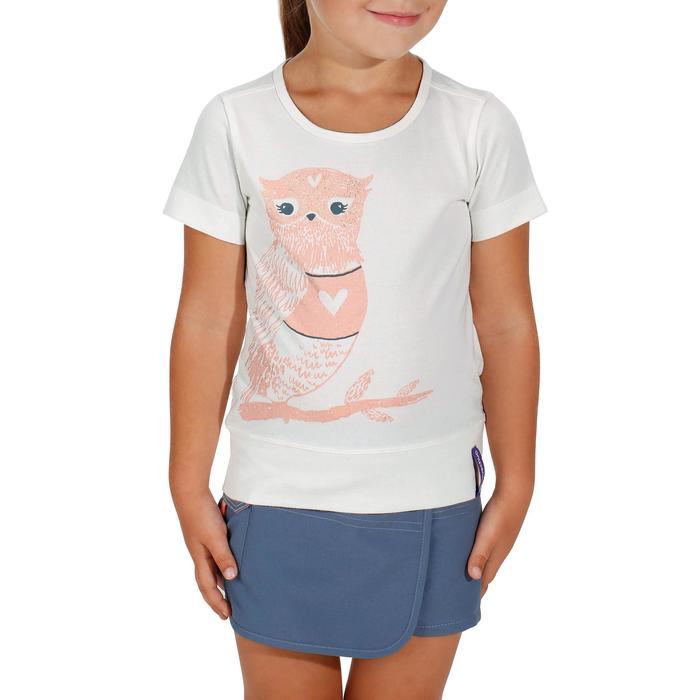 Wandel T-shirt voor meisjes Hike 500 uil wit
