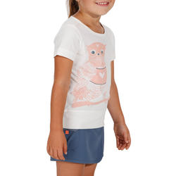 T-shirt de randonnée enfant Hike 500 hibou blanc