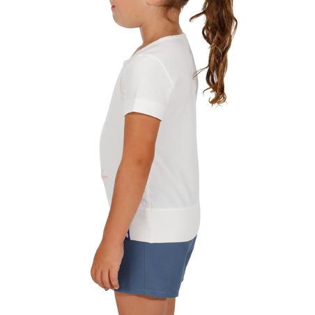 Camiseta de excursionismo niña Hike 500 búho blanco