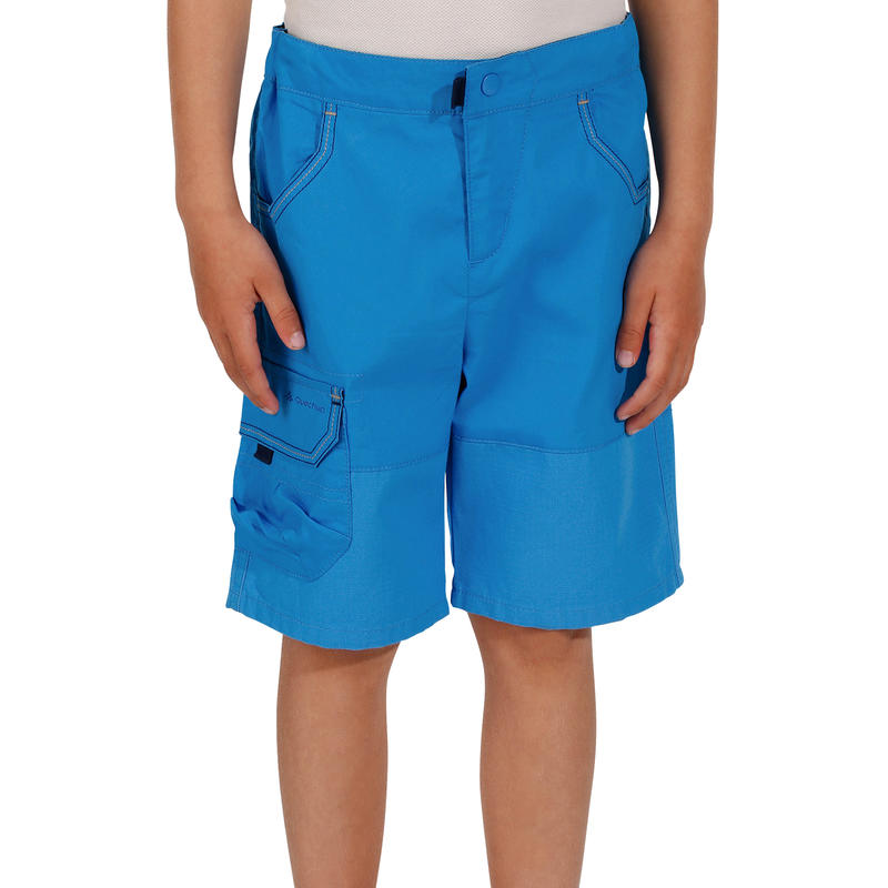 Hike 500 Children's Hiking Shorts - Blue