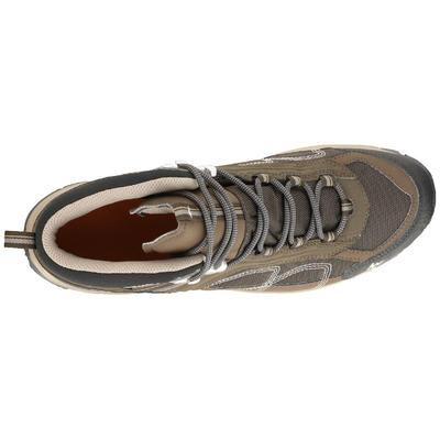 f4aaf095b51 MH100 Mid Men s Waterproof Hiking Shoes - Brown - Decathlon