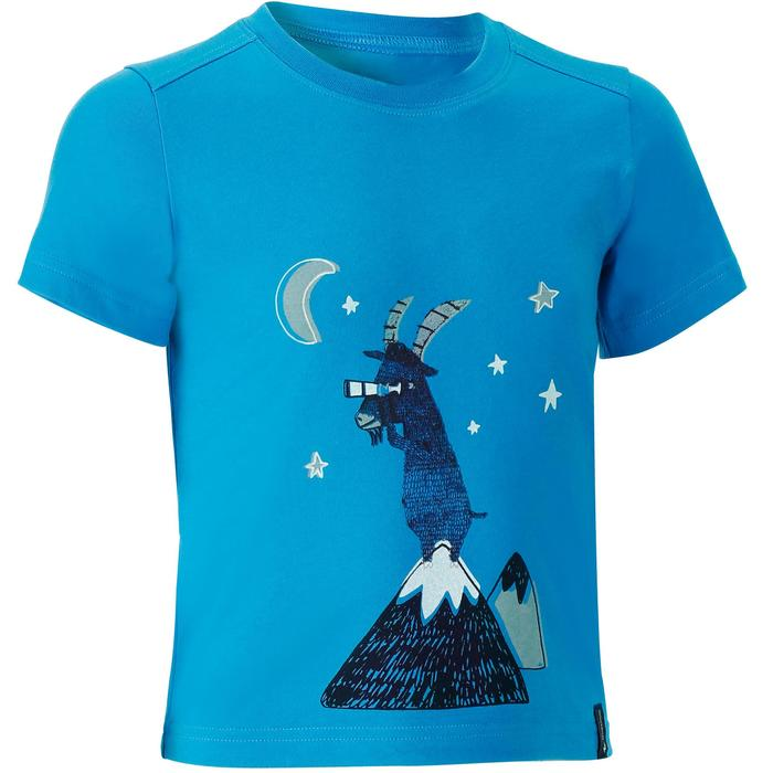 Hike 500 Children's Boy's Hiking T-Shirt – Blue - 1152068