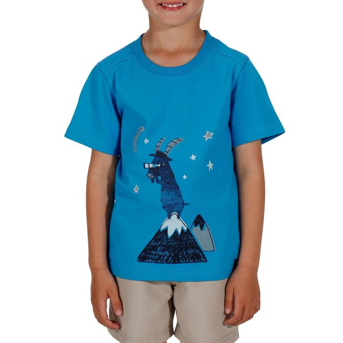 Hike 500 Children's Boy's Hiking T-Shirt – Blue - 1152069
