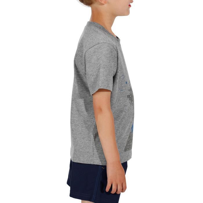 Camiseta de senderismo niños Hike 500 gris