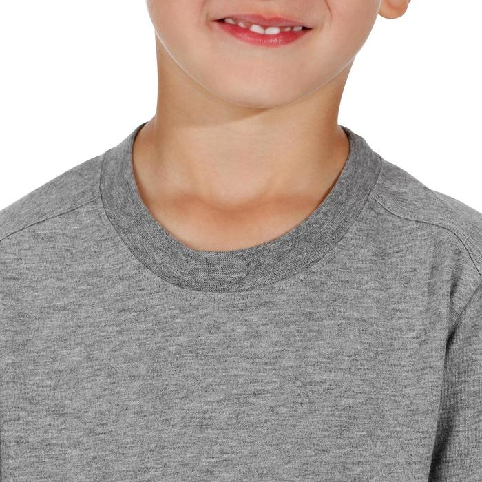 500 男款兒童健行T恤 灰色