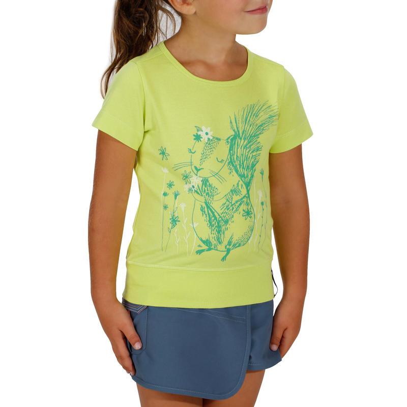 65ffe0c400296 ... T-Shirt de randonnée enfant fille Hike 500 écureuil jaune ...