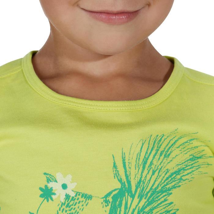 Camiseta de travesía niña Hike 500 ardilla amarillo