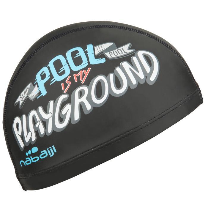 矽膠網眼印花泳帽500,L號 - NGU