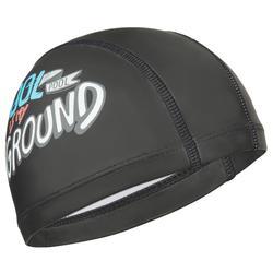 L號 矽膠印花網布泳帽 - Ngu