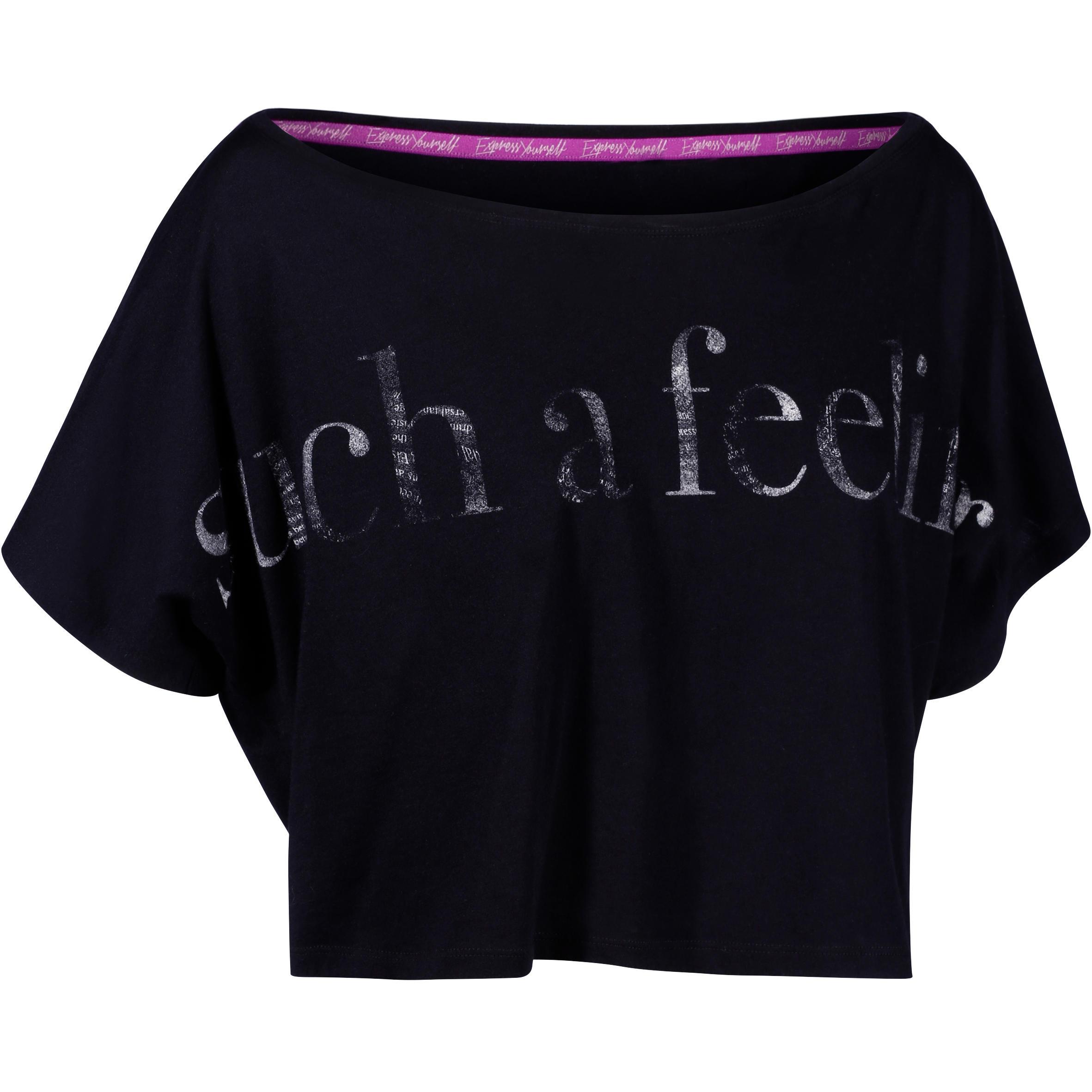 Domyos Kort dans T-shirt dames met grijs effect