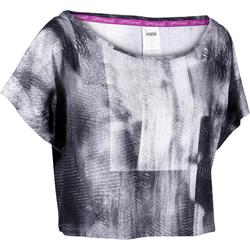 T shirt court danse femme printé