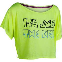 Kort dans T-shirt voor dames gemêleerd donkergrijs