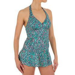 女款連身泳衣Sara-棕櫚綠
