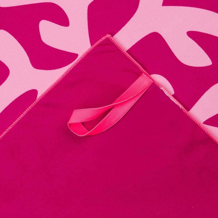 輕便微纖維毛巾L號80 x 130 cm 粉紅色美人魚印花