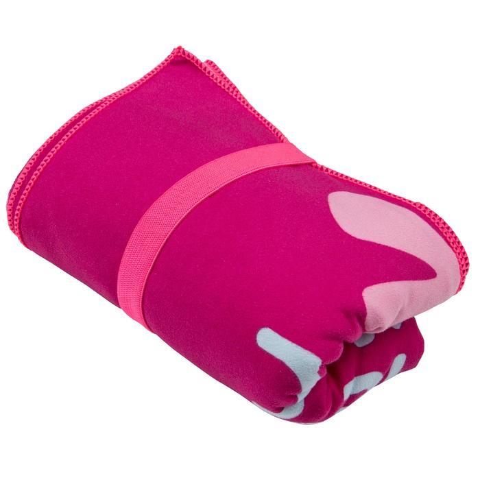 Printed Microfibre Towel, L - Pink