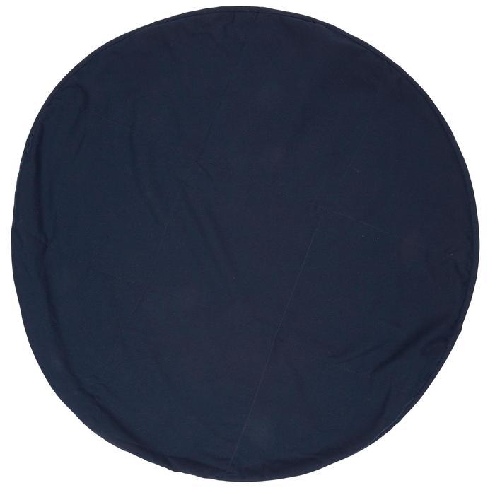 Tweezijdige bordeaux microvezelhanddoek voor de voeten, diameter 60 cm