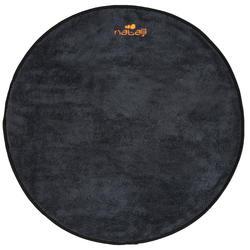 Handdoek voor de voeten, grijs/zwart, zachte microvezel, diameter 60 cm