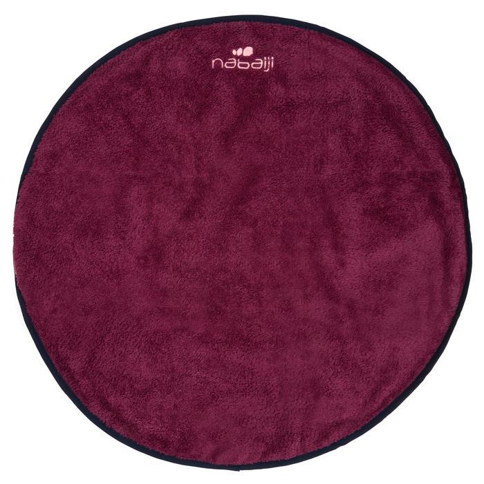 Toalla para los pies doble faz de microfibra suave violeta vivo diámetro 60 cm