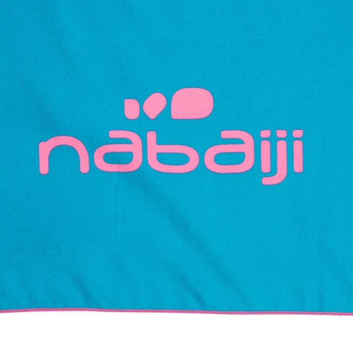 L號 超輕巧微纖維毛巾 80 x 130 cm - 藍色/粉紅印花