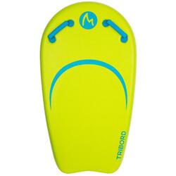 Bodyboard met leash BODYATU M voor kinderen groen