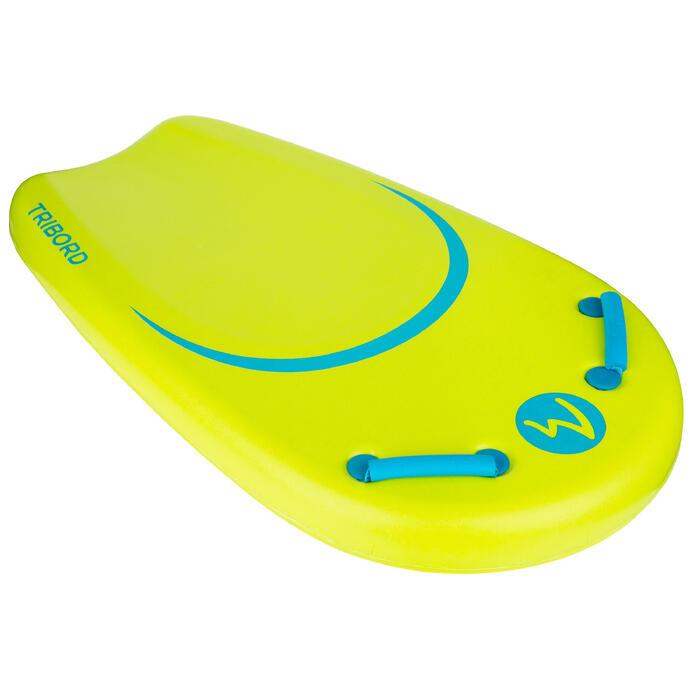 Bodyboard voor jongeren Bodyatu M groen met grepen en leash