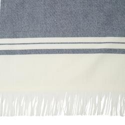 Fouta Double Towel 170 x 150 cm - Avorio Navy Blue
