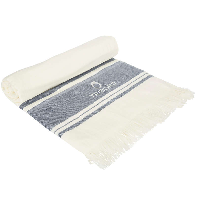 BEACH TOWELS AND PONCHO - FOUTA DOUBLE - Avorio Marine OLAIAN