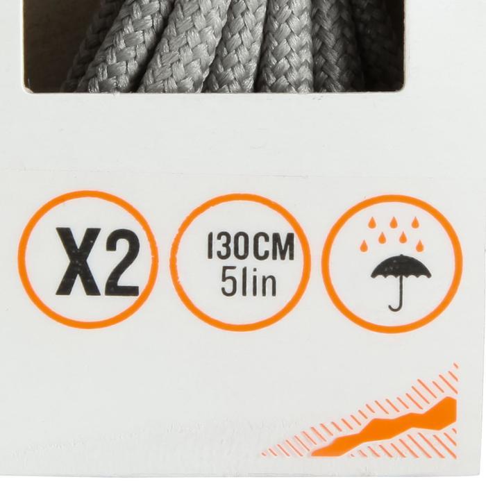 Cordones redondos de botas de senderismo gris