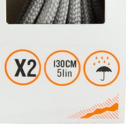 Schnürsenkel für Wanderschuhe rund grau
