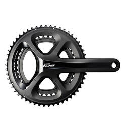 PEDALIER ROUTE 11 VITESSES SHIMANO 105 MID COMPACT 52x36 MANIVELLES 172.5 MM