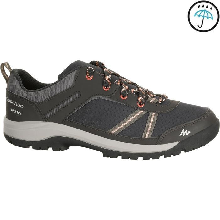 Chaussure de randonnée nature NH300 imperméable noire femme