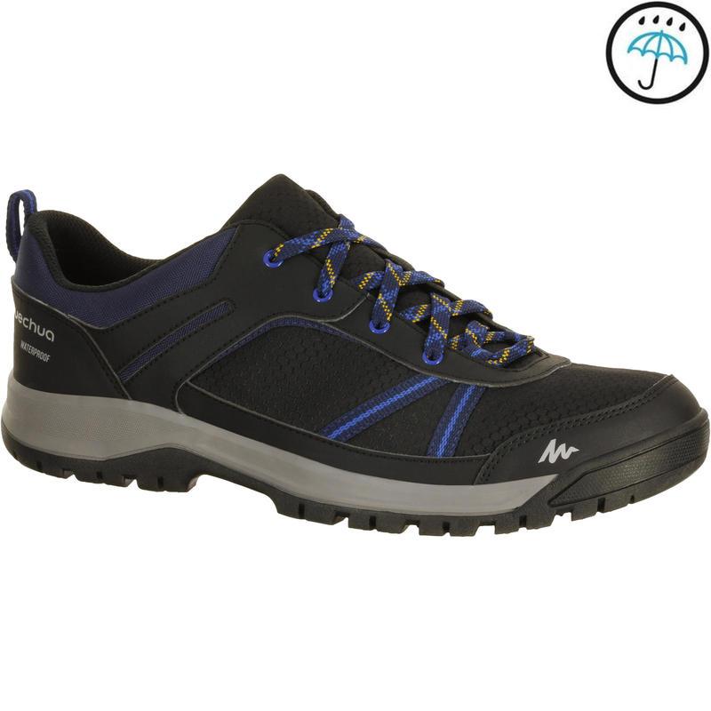 6cc7de9ae41e0 All Sports>Hiking and Trekking>Hiking>Hiking Shoes and Sandals>Men's Hiking  Shoes (WATERPROOF) NH300 - Black