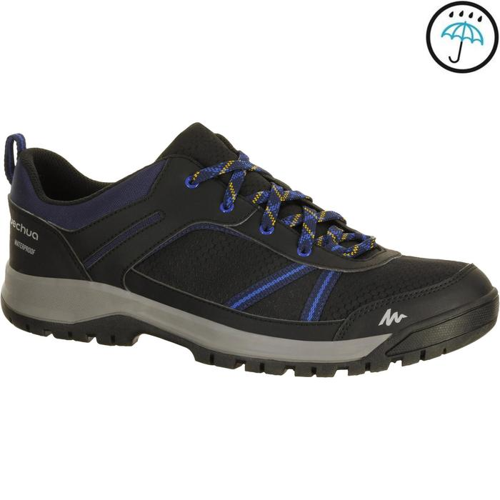Chaussure de randonnée nature NH300 imperméable noire homme - 1152930