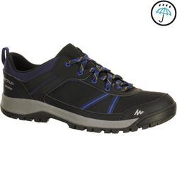 Zapatillas de senderismo en la naturaleza NH300 impermeable negro hombre