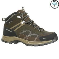 男士中筒防水健行運動鞋 MH100 Mid - 棕色