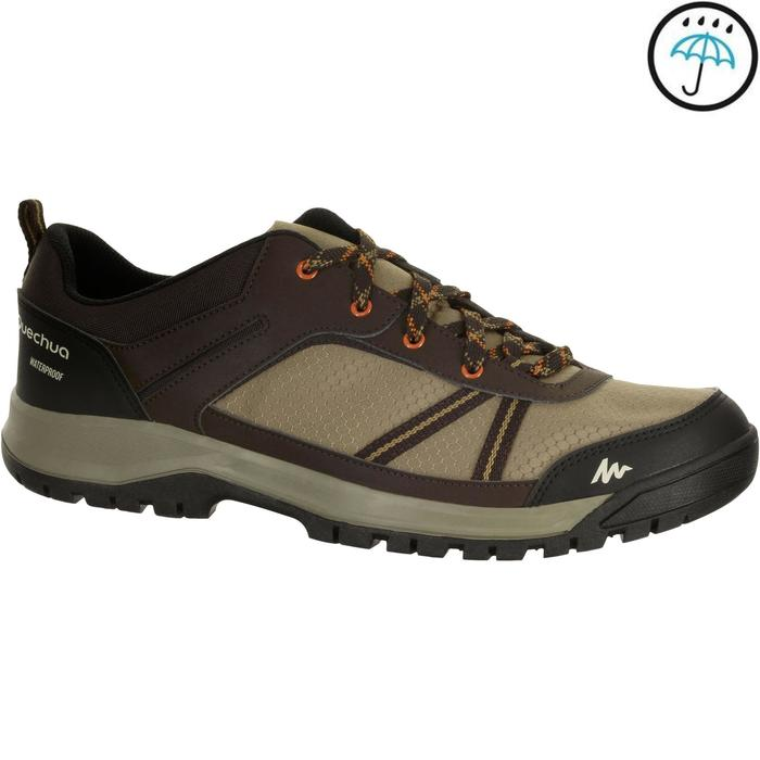 Chaussure de randonnée nature NH300 imperméable noire homme - 1152933