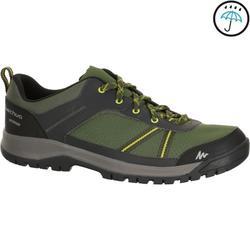 Men's NH300 waterproof hiking shoe in black