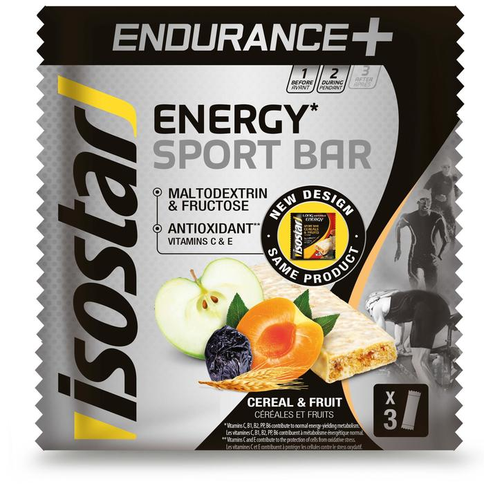 Energiereep Energy Sport Bar Endurance+ granen en fruit 3x40 g