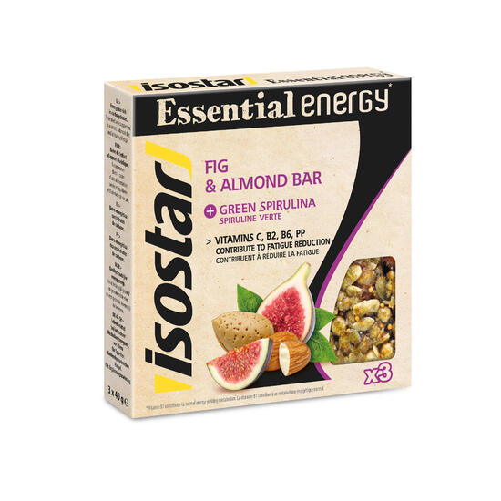 Energierepen Fruit&Nut Energy vijg/amandel/spiruline 3x40g - 1153043