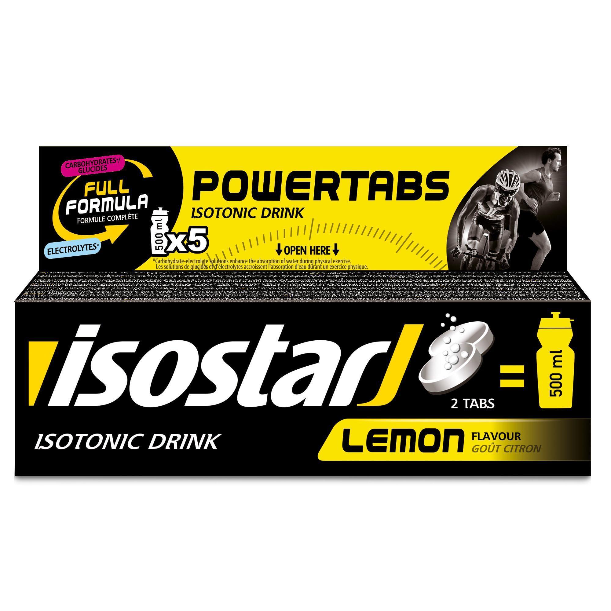 Isostar Bruistabletten voor isotone dorstlesser Powertabs citroen 10x 12 g