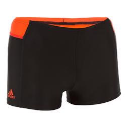 Zwemboxer jongens 3 strepen zwart/rood