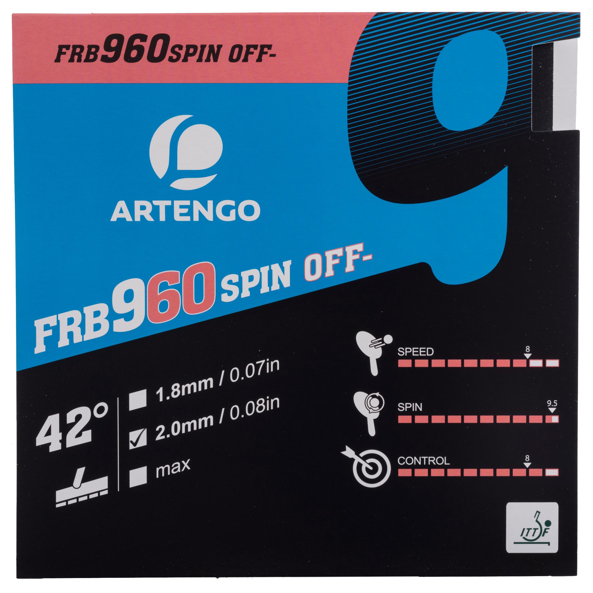 Artengo Rubber voor tafeltennisbat Artengo FRB 960 spin 42�