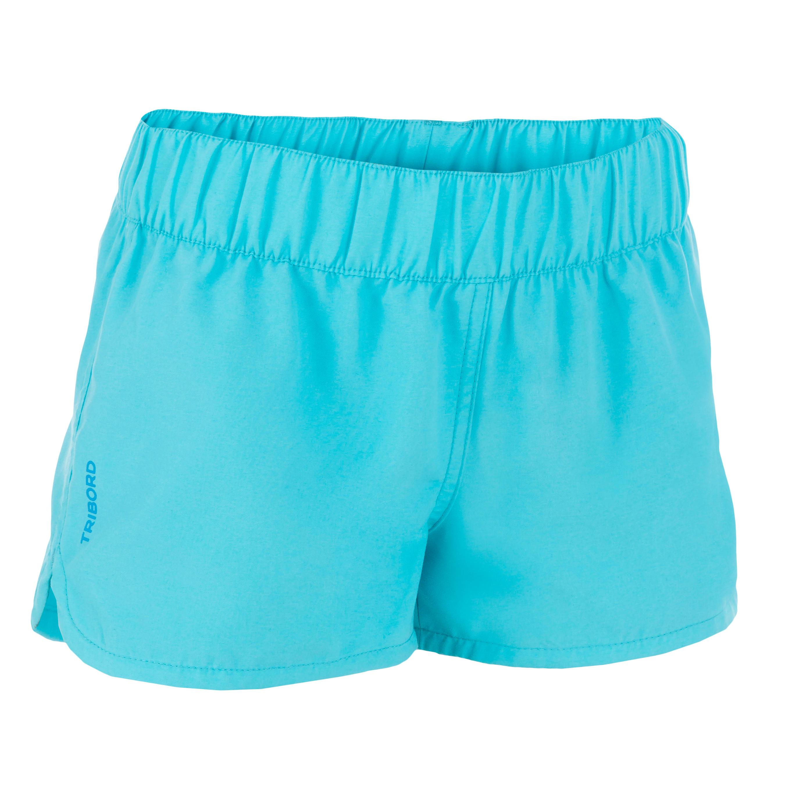 Boardshort niña corto con cintura elástica AZUL